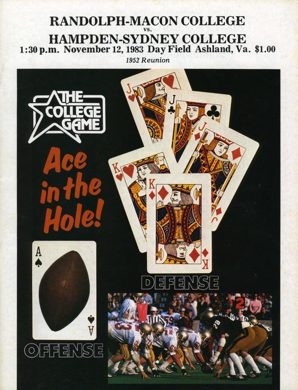 1983 R-MC vs. H-SC football program cover