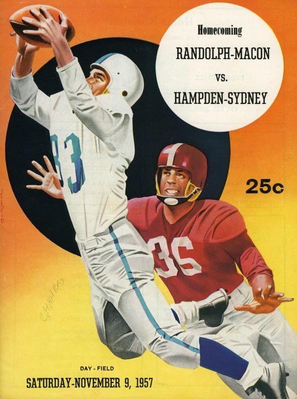 1957 R-MC vs. H-SC football program cover