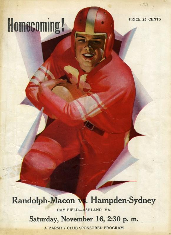 1946 R-MC vs. H-SC football program cover